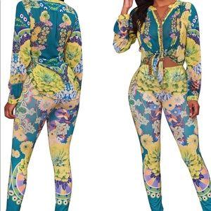 Pants - Floral Print Set